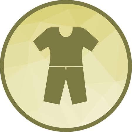 Pyjamas Suit Icon Illustration