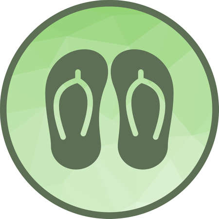 Slippers, summer, footwear Illustration