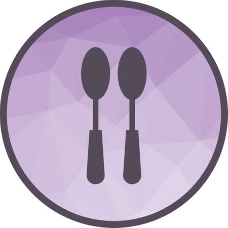 Spoons, fork, silver