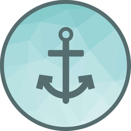 Anchor icon vector illustration Ilustrace