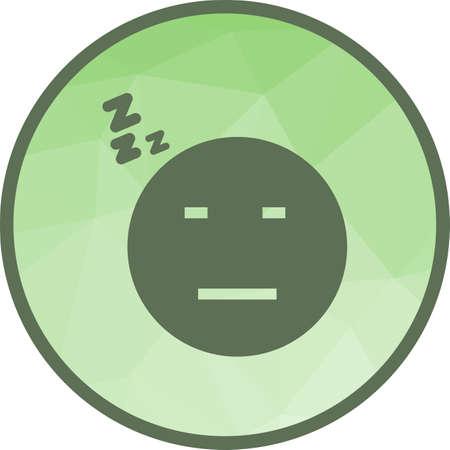 Sleepy I Icon Stock Vector - 102251237