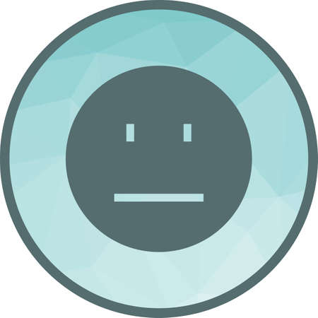 Straight Face Icon