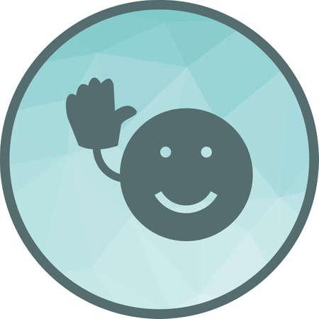 Bye icon vector illustration