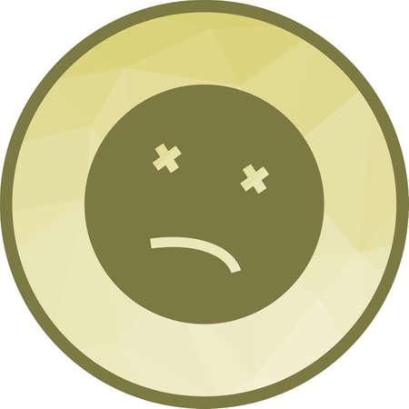 Dead emoji icon vector illustration
