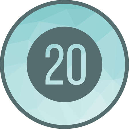 Speed limit 20 icon
