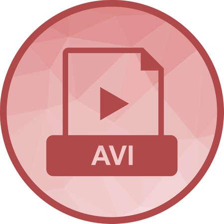 AVI, web, play Vector Illustration