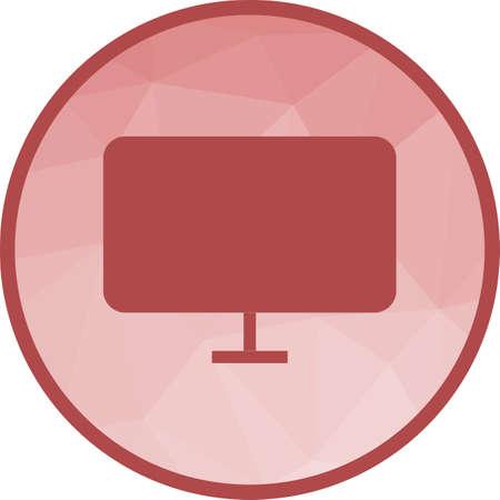 LCD Screen Icon Illustration