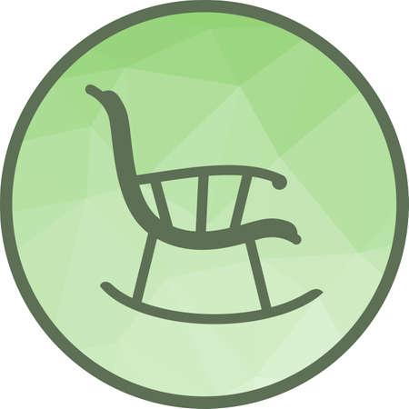 Rocking Chair Icon Foto de archivo - 103356412