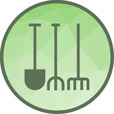 Gardening Tools Icon Illustration