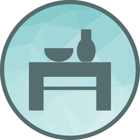 Decoration Table Icon Stock Vector - 102550179
