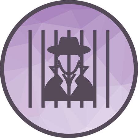 Criminal behind bars Standard-Bild - 102550712