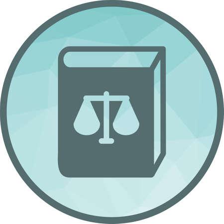 Law Book Icon Illustration