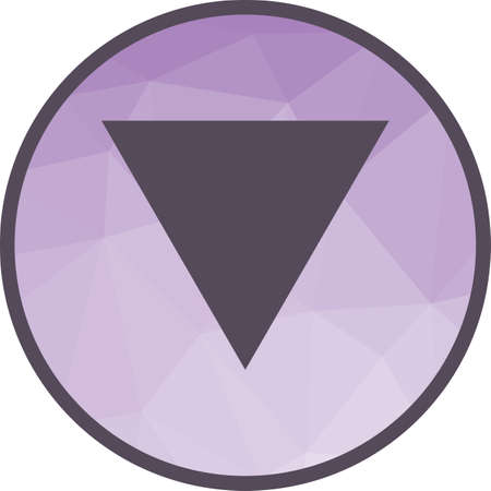 Inverted Triangle Icon 向量圖像