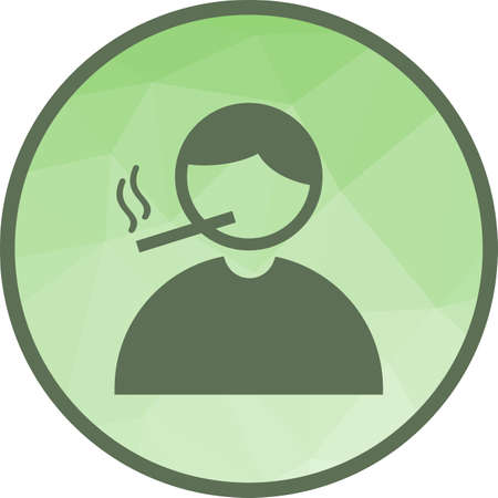 Smoking, cigarette icon Çizim