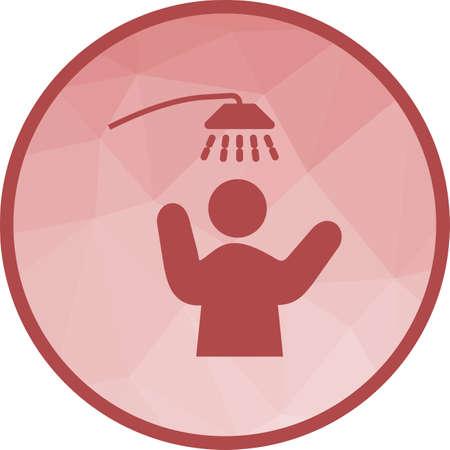 Taking Shower Icon Ilustrace