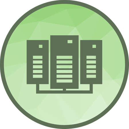 Data Center Icon 向量圖像