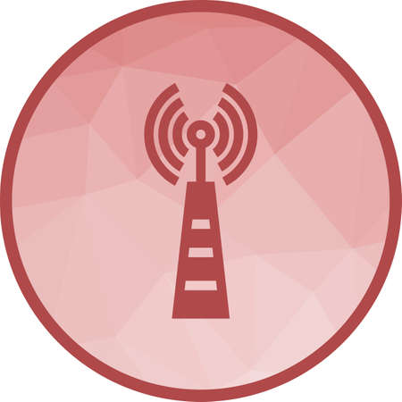 Telecom Tower Icon Illustration