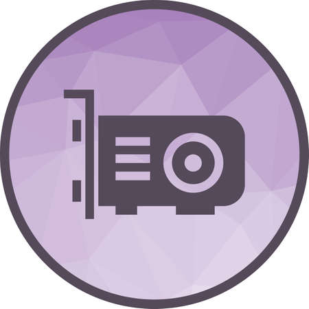 Graphic card icon Illustration