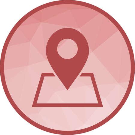 Maps, location, area Иллюстрация
