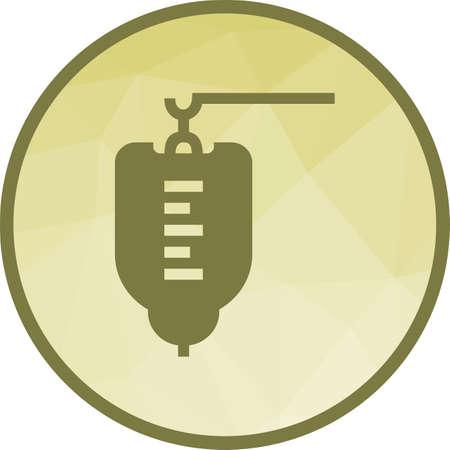 Medical Drip Icon Illustration