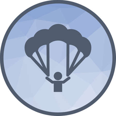 Paragliding, glider, parachute Illustration