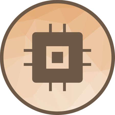Chip, Circuit Icon