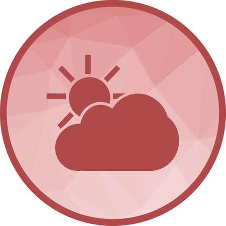 Weather, cloud, sun Ilustrace