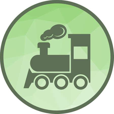 Icône de train à vapeur Vecteurs