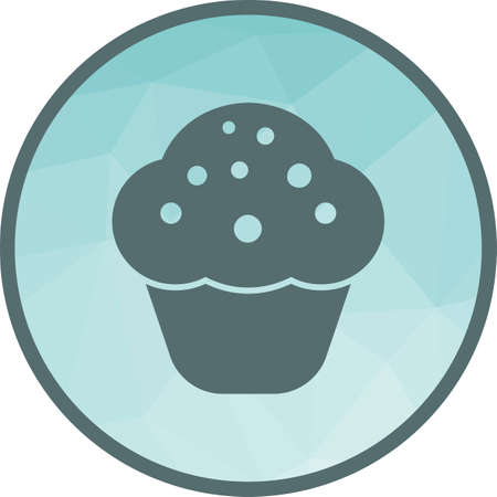 Chocolate Cupcake Icon Illustration