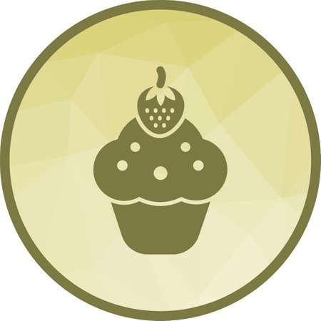Strawberry cupcake Icon