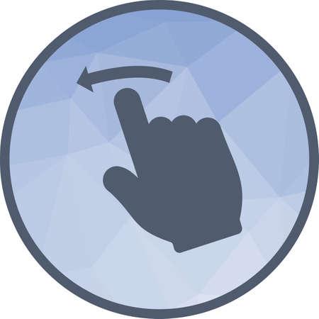 Swipe Left Icon Illustration