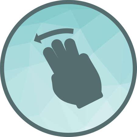 Three Fingers Left Stock Illustratie