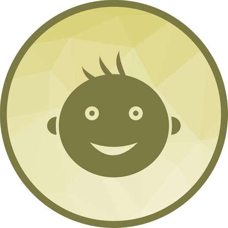 Smiling Baby Icon Illustration