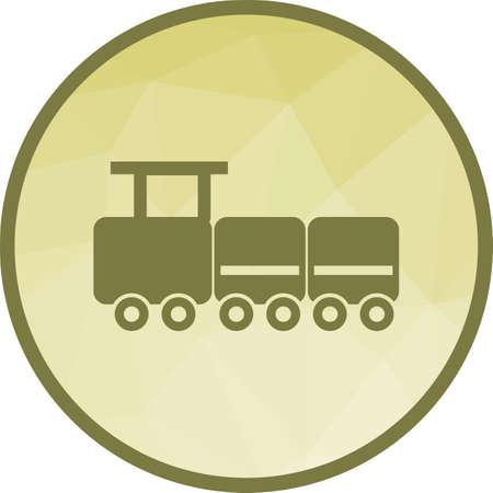 Toy Train Icon Illustration