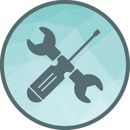 Wrench and Screw Driver Ilustração