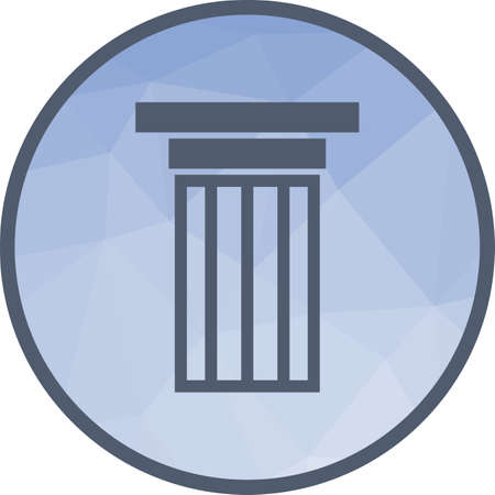 Columns, pillars, courthouse icon vector image.Can also be used for building and landmarks . Suitable for mobile apps, web apps and print media.