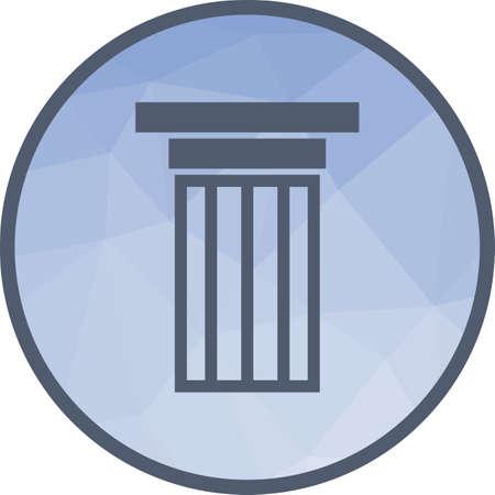 Spalten, Säulen, Gerichtsgebäude Symbol Vektorbild. Kann auch für Gebäude und Sehenswürdigkeiten verwendet werden. Geeignet für mobile Apps, Web-Apps und Printmedien.