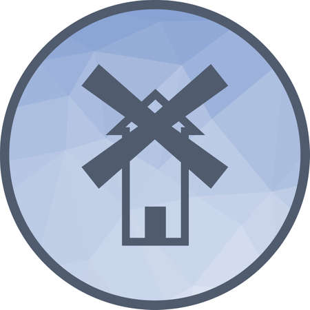 Windmill, wind, farm icon vector image.Can also be used for building and landmarks . Suitable for mobile apps, web apps and print media.