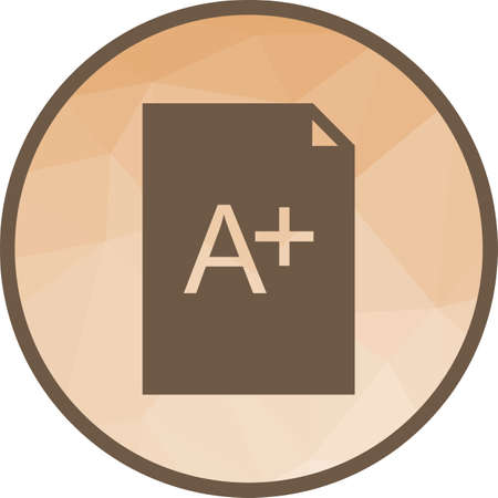 Grade, test, legal icon vector image.Can also be used for education and science. Suitable for mobile apps, web apps and print media.