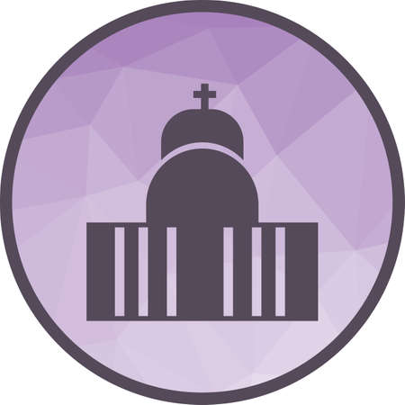 Cathedral, vatican, church icon vector image.Can also be used for building and landmarks . Suitable for mobile apps, web apps and print media.