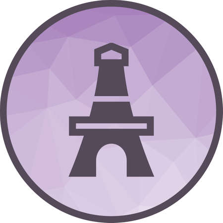 Tower, paris, eiffel icon vector image.Can also be used for building and landmarks . Suitable for mobile apps, web apps and print media.