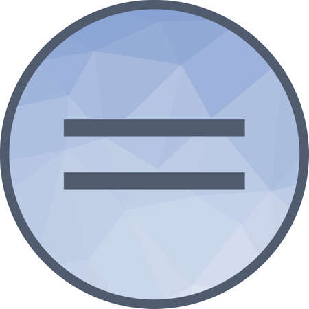 Sign, equal, equality icon vector image.Can also be used for education and science. Suitable for mobile apps, web apps and print media.