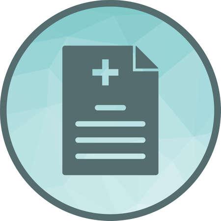 Medizin, Bericht, Arzt-Symbol-Vektor-Bild. Kann auch für das Gesundheitswesen und die Wissenschaft verwendet werden. Geeignet für den Einsatz in Web-Apps, mobilen Apps und Printmedien.