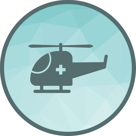 Helicopter, flight, sky icon vector image. Can also be used for healthcare and science. Suitable for use on web apps, mobile apps and print media. Illustration