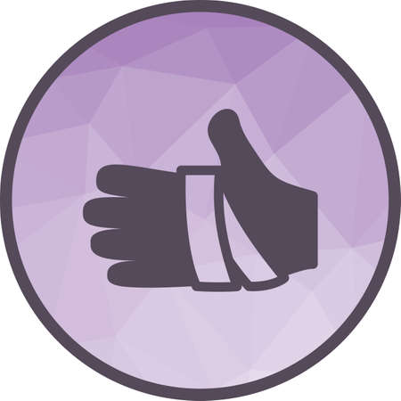 Hand, bandage, injury icon vector image. Can also be used for healthcare and science. Suitable for use on web apps, mobile apps and print media.