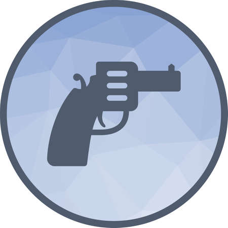 Gun, pistol, handgun icon vector image. Can also be used for objects. Suitable for use on web apps, mobile apps and print media. 矢量图像