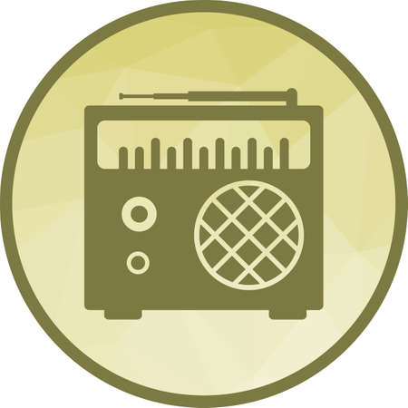Radio, speaker, tuner icon vector image. Can also be used for objects. Suitable for web apps, mobile apps and print media.