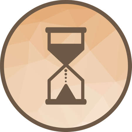 Glass, hourglass, sand icon vector image. Can also be used for objects. Suitable for use on web apps, mobile apps and print media.