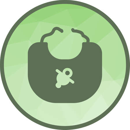 Bib, baby, infant icon vector image. Can also be used for objects. Suitable for web apps, mobile apps and print media.