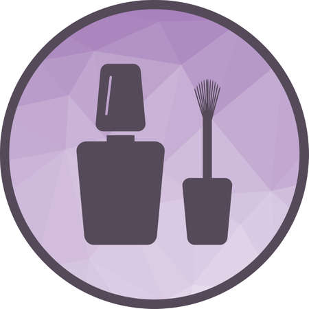 Nail, polish, beauty icon vector image. Can also be used for objects. Suitable for web apps, mobile apps and print media.